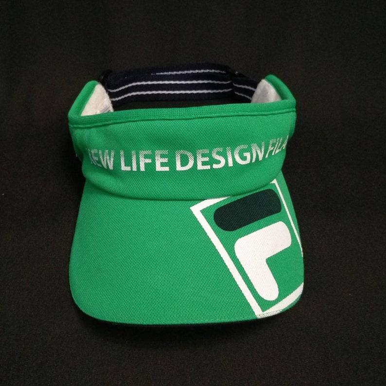 dcb9d786 Vintage FILA Visor Golf Hat New Life Design Fila Wear Big   Etsy