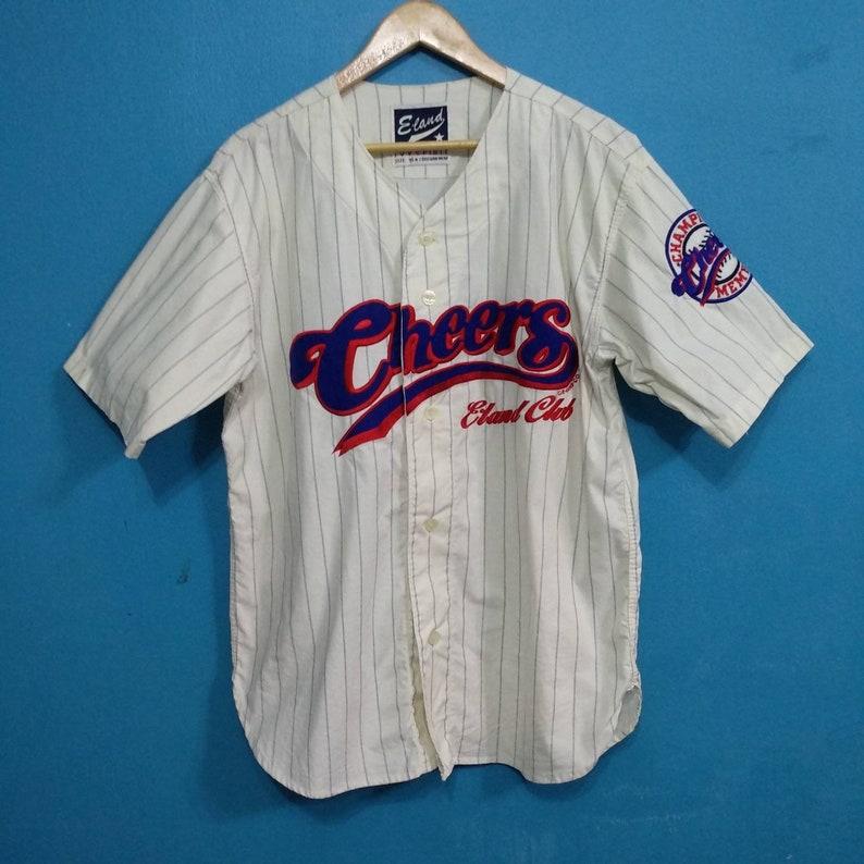 fba4d49a1a3 Vintage Baseball Jersey// Cheers e. Land Club//Baseball | Etsy