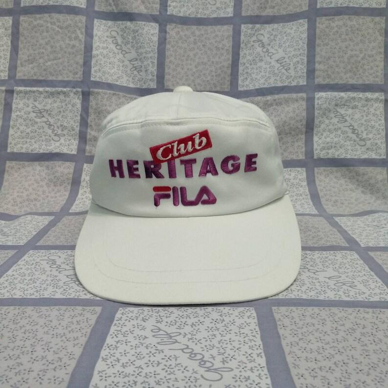 8868111f447 Vintage FILA HERITAGE Club Cap Hat Fila Street wear Fila