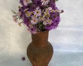 Vintage clay vessel, Antique clay pot, Rustic ceramic bowl, Ceramic jug, Traditional ceramic pitcher, Vintage Home decor, Farmhouse decor