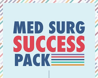 Med Surg Nursing School Study Guides - PDF