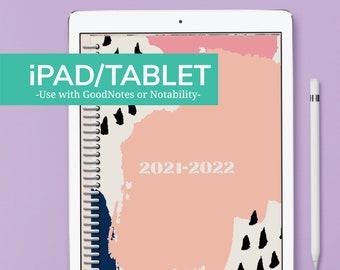 iPAD/TABLET - BRUSH STROKES Nursing Student Planner - July 2021 to June 2022