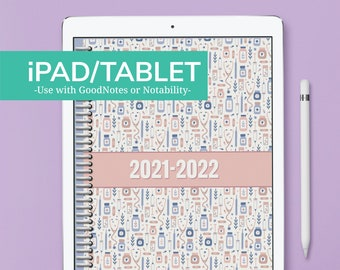 iPAD/TABLET - PRETTY in PINK Nursing Student Planner - July 2021 to June 2022