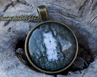 Appalachian Trail Photo Pendant of White Blaze With Necklace