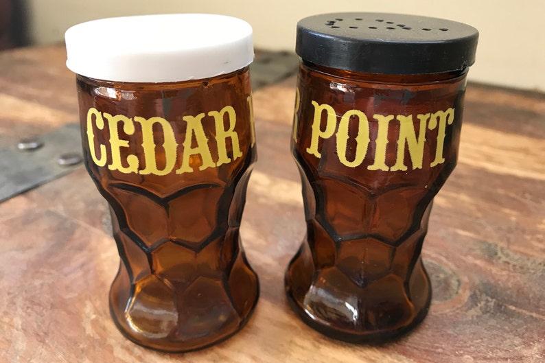 Vintage Cedar Point Salt and Pepper Shakers Souvenir