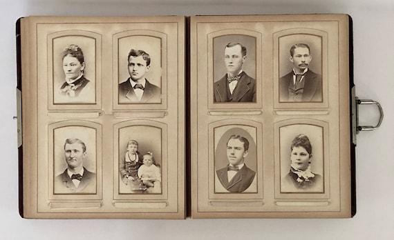 Beautiful Victorian Photo Album With 56 Photographs
