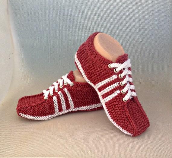 93b7cef5f54c HandicraftUA Knitted sneakers adidashome | Etsy