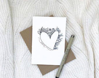 Cards and envelope | Thinking of you | blank inside | Encouragement | Thinking of You | Greeting | Secret Sister | Birthday