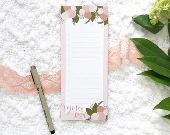 Notepad | Rejoice in the Lord Always | 25 pages | grocery list, to do, reminder, Christian notes, just because, gift, Mother's Day