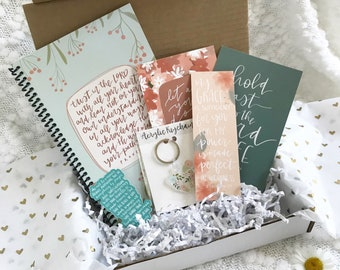 JULY BOX | Subscription | Dairymaid Express | Notebook | Prints | Vinyl Stickers | Magnet | Keychain | Christian | Woman | Teen | Gift