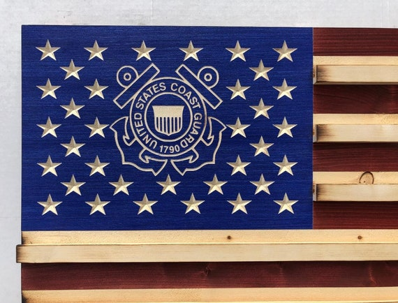 Military Challenge Coin Display Rack US Wood Flag for Military Police