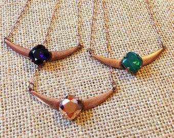 Swarovski Crystal Antique Copper Necklace