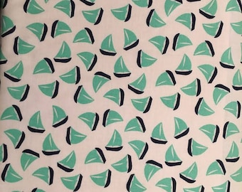 Michael Miller Fabrics Little Sailboats PC 6330-STRM-D  -- 1/2 yard increments