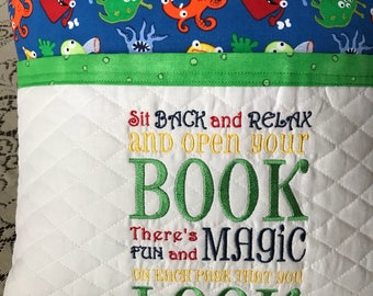 Little Monsters Reading Book Pillow