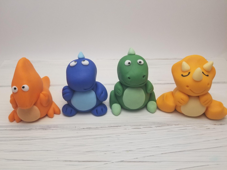 Dinosaur cake toppers Fondant dinosaur cake toppers ...