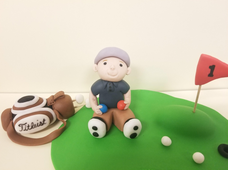 Golf cake topper Fondant golf birthday cake topper Golfers | Etsy