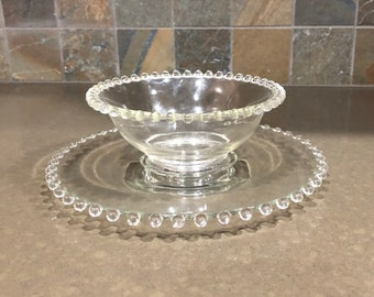Rare Large Candlewick Clear Compote by
