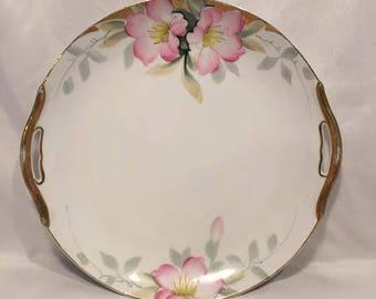 Handled Cake Plate in Azalea by Noritake