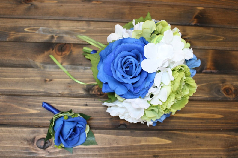 pretty nice d1194 ffcc4 Clearance, On Sale, Blue and Green Bouquet, Seahawks Bouquet, Sounders,  Seattle Seahawks, Seattle Seahawks Bouquet, Bridal Bouquet Blue