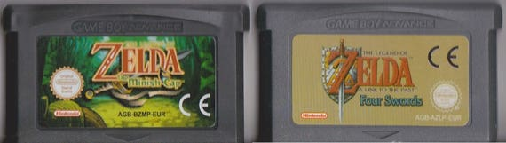 Juego GBA Gameboy Game Boy Advance Zelda Link to the Past, Zelda Minish Cap  Custom