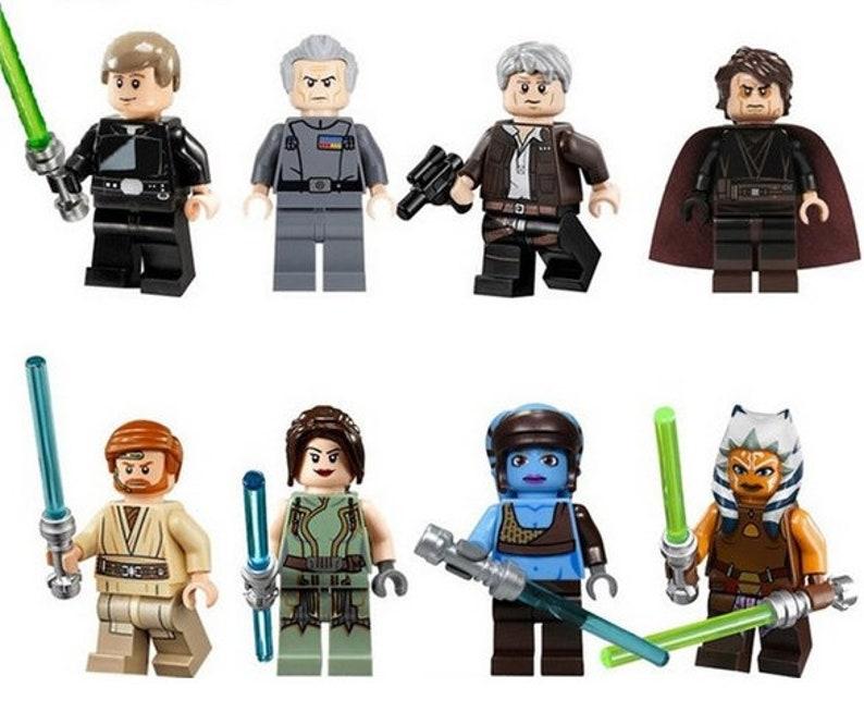Lot Of 8 Figures Lego Star Wars Luke Skywalker Wilhuff Etsy