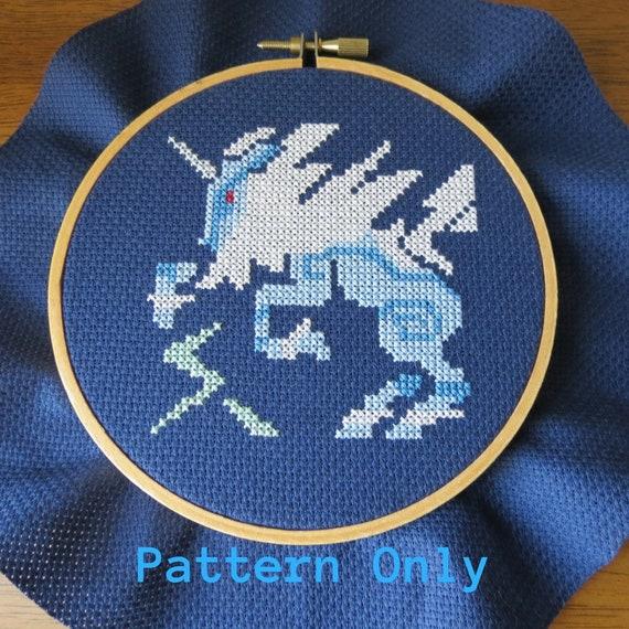 Kirin Monster Hunter Cross Stitch Pattern Pdf Download Pixel Art Video Game Cross Stitch Gifts For Gamers