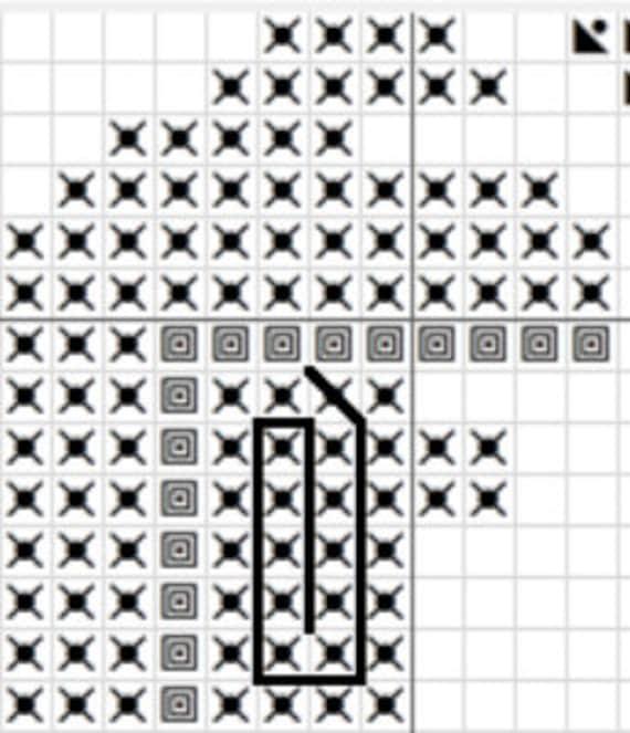 Fulgur Anjanath Cross Stitch Pattern Monster Hunter World Pdf Download Pixel Art Video Game Cross Stitch Gifts For Gamers