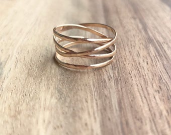 Large Gold Wrap Ring, Gold Wrap Ring, Gold Ring, Delicate Gold Ring, Gold Jewelry