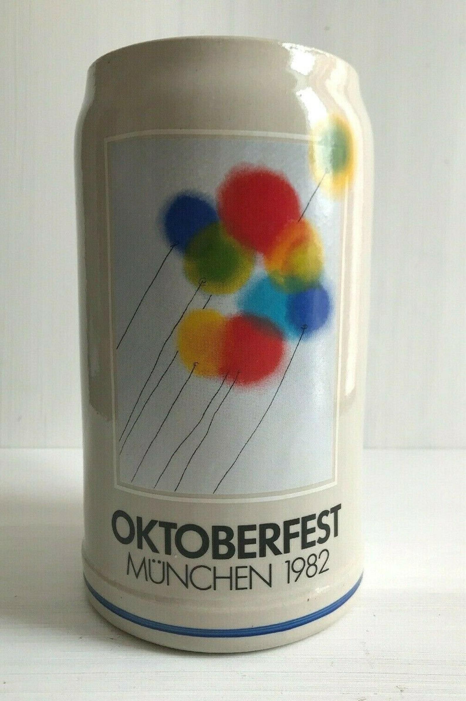 Vintage Oktoberfest Munchen 1982 Entwurf von Helmut Gratzfeld Signature Beer