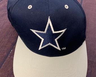 reputable site eeba6 a0317 Vintage 90s Dallas Cowboys Deadstock Navy Hat NFL Football New