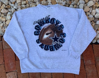 3c747983569e Vintage 90s Dallas Cowboys 1996 Football Gray Tultex Pull Over Size Large  NFL