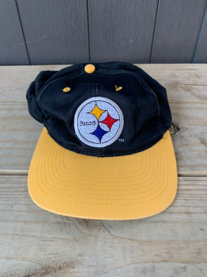 2428566c2cc31a Vintage 90s Pittsburgh Steelers Team NFL Hat Cap Snapback | Etsy