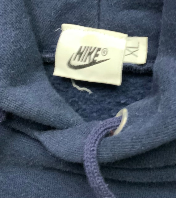 Vintage 90s Nike Repro Blue and Red Pull Over Hoo… - image 2