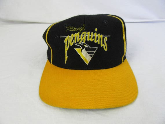 5d9362b2940 9a7d9 54ab3  switzerland vintage 90s pittsburgh penguins the game hat cap  nhl hockey etsy 44fac 18ee5