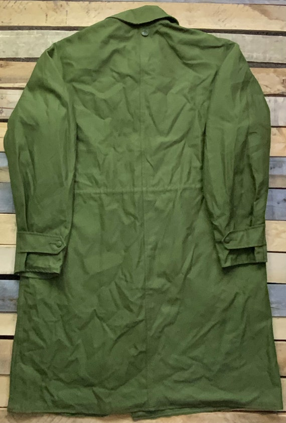 Vintage 80s Danmark Six Button Canvas Olive Green… - image 2