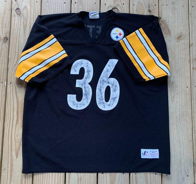 1a8b0d43b8f Vintage 90s Pittsburgh Steelers Jerome Bettis 36 Mesh Black