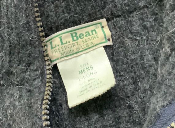 Vintage 80s LL Bean Gray Wool Full Zip Sweater Me… - image 4