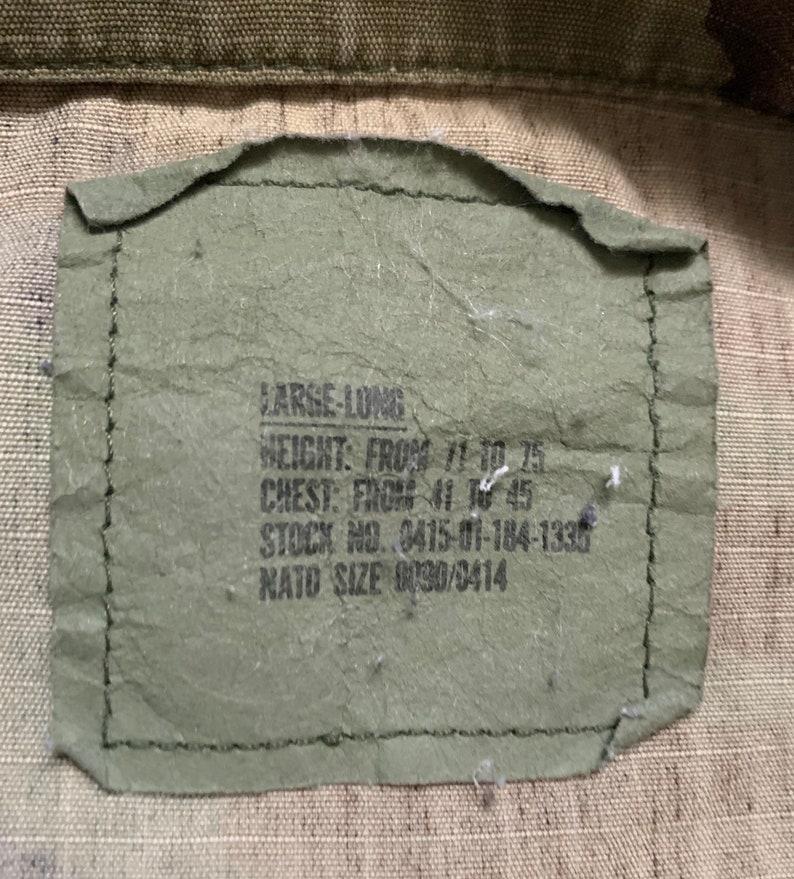 Vintage 90s US Military Camouflage Hot Weather Coat Sz Large Long 1993