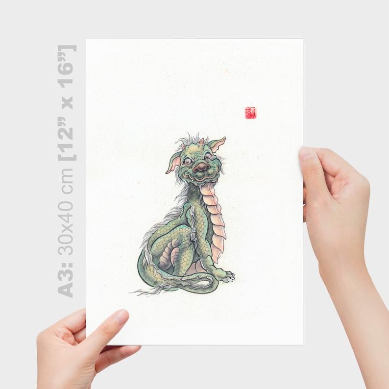 Art print of museum quality Nursery Decor Poster Baby Dragon