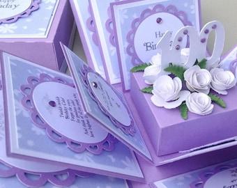 Exploding Special Milestone AGE Birthday Keepsake Boxes