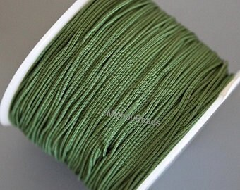 0.5mm Braided Polyester Cord 5 Yards BLACK Silk Chinese Knot Shamballa Macrame Thin Strong Knotting Beading String Thread Cording 0.4 mm