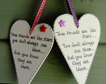 True friends heart plaque