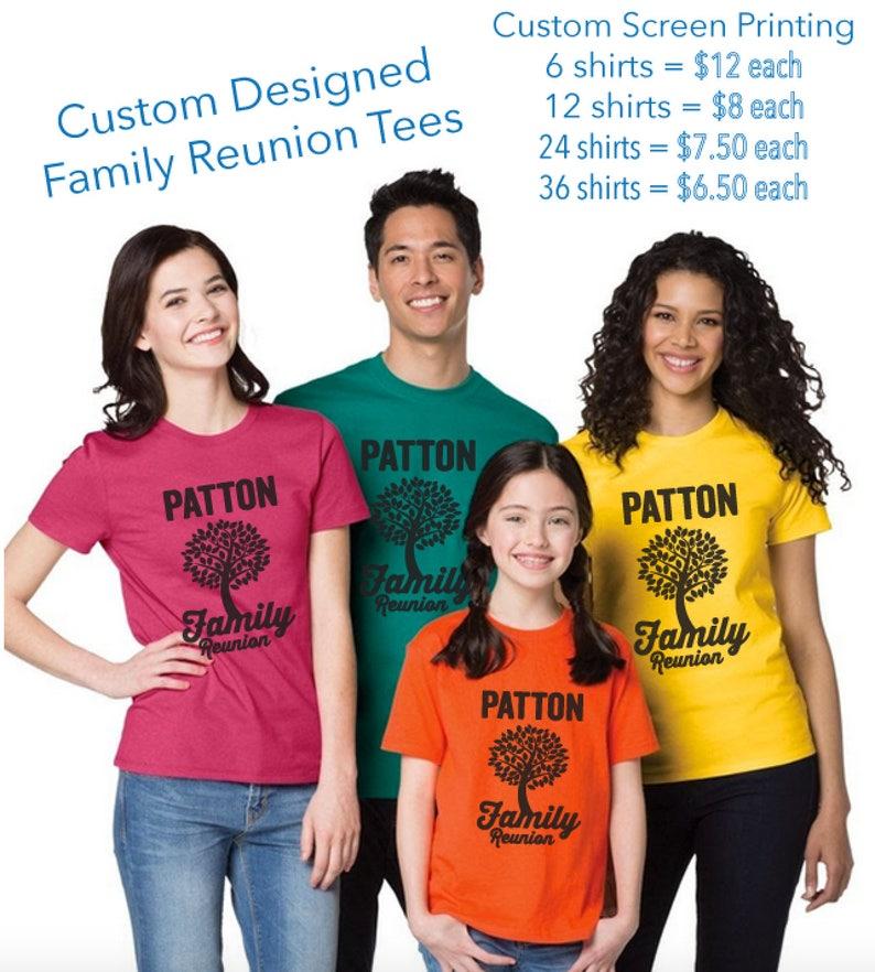 0428b5fb Family Reunion Shirts Custom Screen Printing Personalized Gift | Etsy