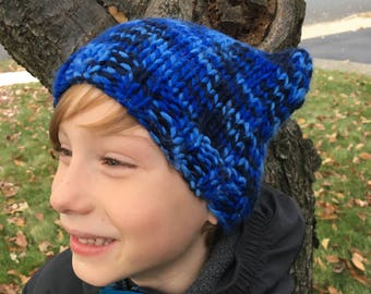 Blue and Black camouflage cat ear hat