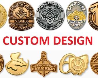 Custom enamel pin | Etsy