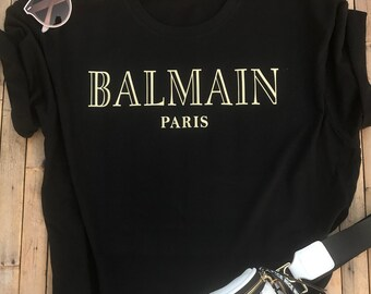 17a1d458 Balmain Paris T-Shirt Balmain Paris Inspired Tee Balmain Paris Top  Christmas Gift Birthday Gift Fashion Shirt