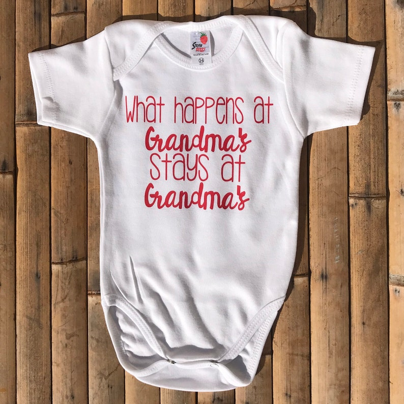 86fddd6d2fc4a Baby Onesie - What Happens at Grandma's Stay at Grandma's Baby Onsie -  Personalized Baby Onesie - Funny Baby Onesie - Baby Boy Onesie