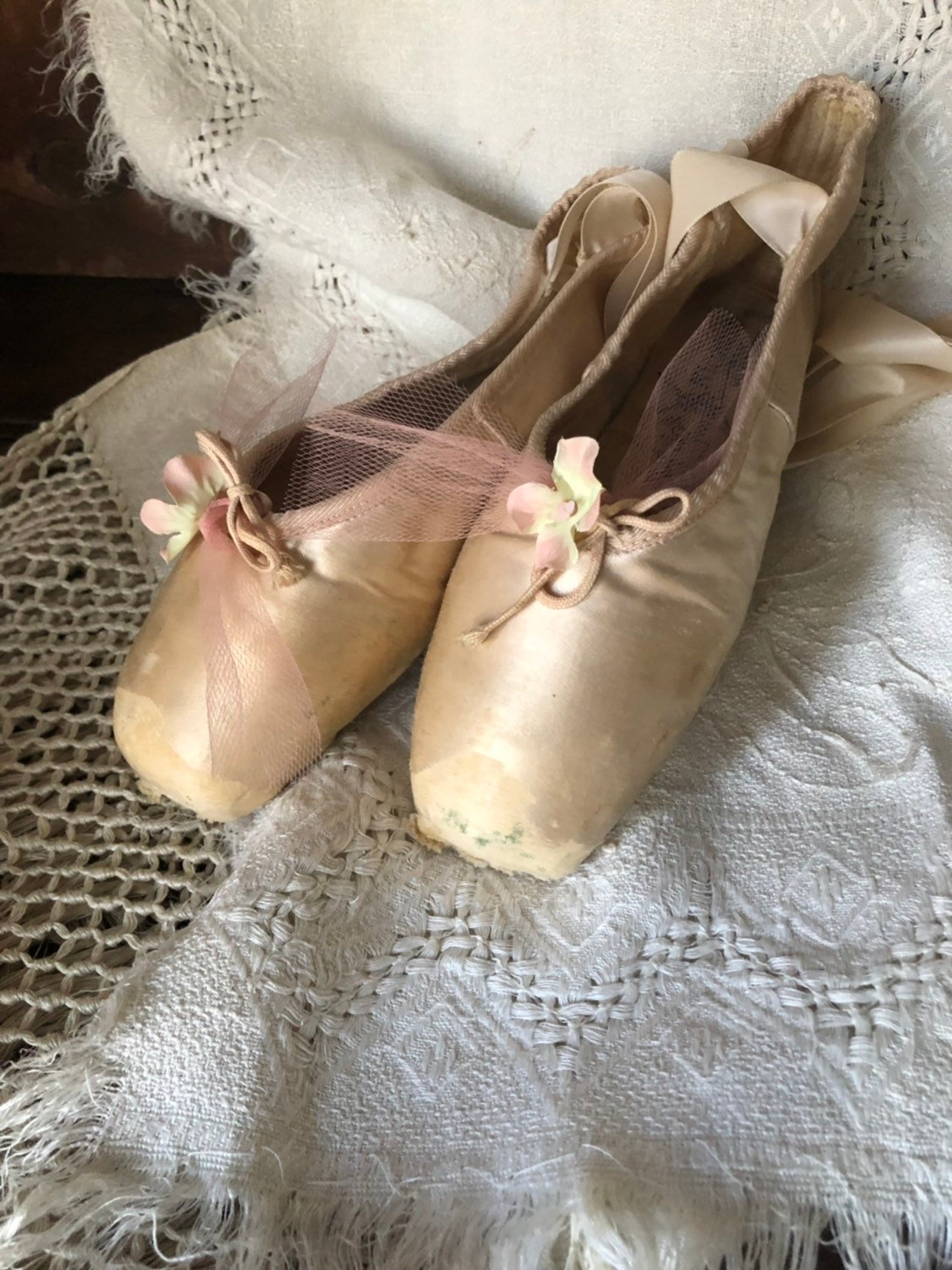 vintage ballet toe slippers