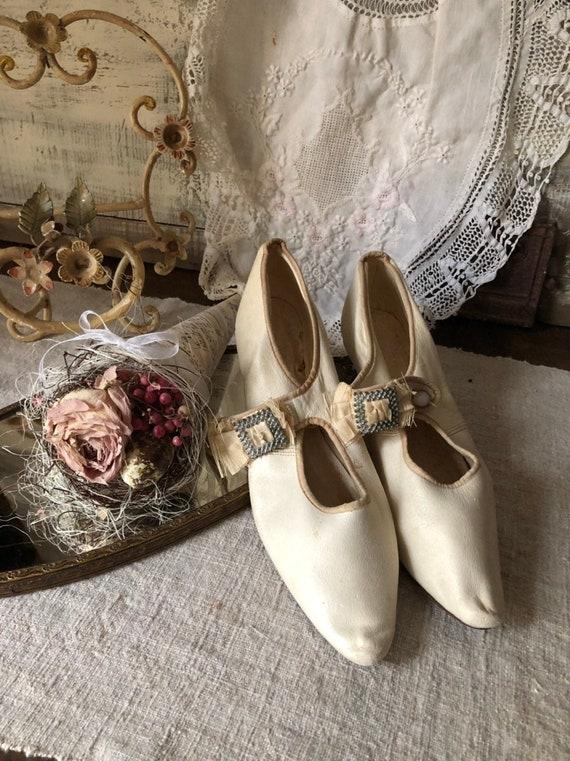 REDUCED. Edwardian Wedding Shoes