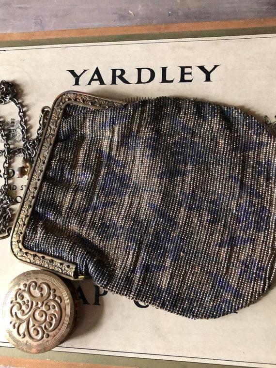 Edwardian Metal Beaded Handbag